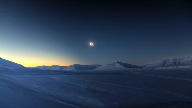 Verdunkelung über Spitzbergen