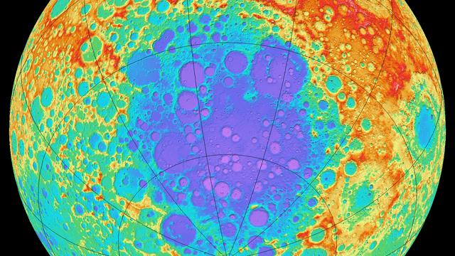 Das Südpol-Aitken-Becken auf dem Mond