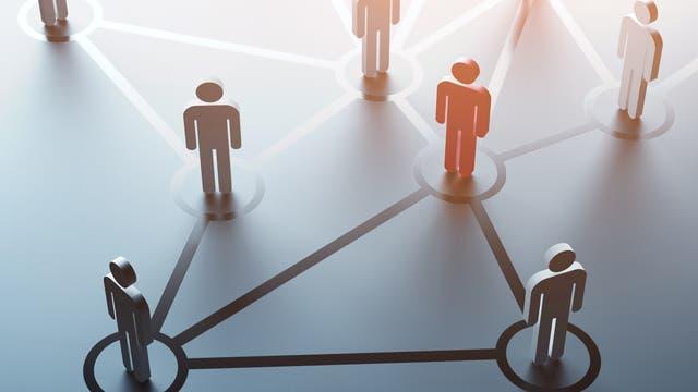 Ein soziales Netz schematisch dargestellt