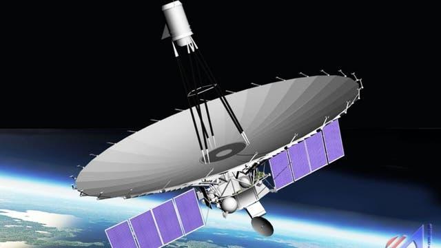 Das Radioteleskop Spektr-R (künstlerische Darstellung)