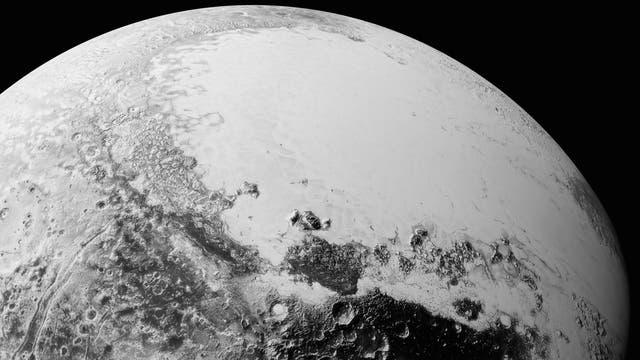 Überblick über Plutos Herz (computergenerierte Perspektive)
