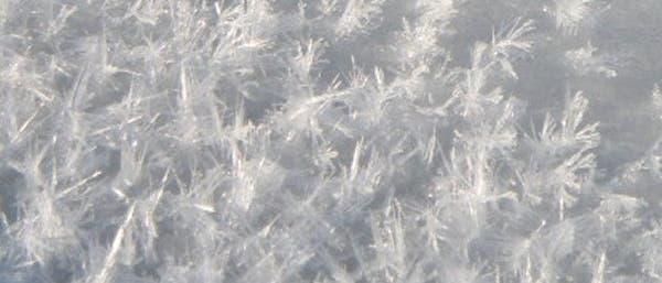 Frostblumen auf arktischem Eis