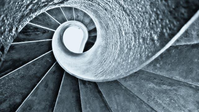 Spirale in die Unendlichkeit