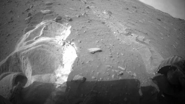Weicher Boden behindert Marsover Spirit