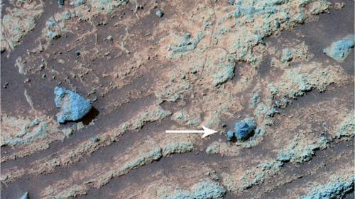Eine vulkanische Bombe auf dem Mars?