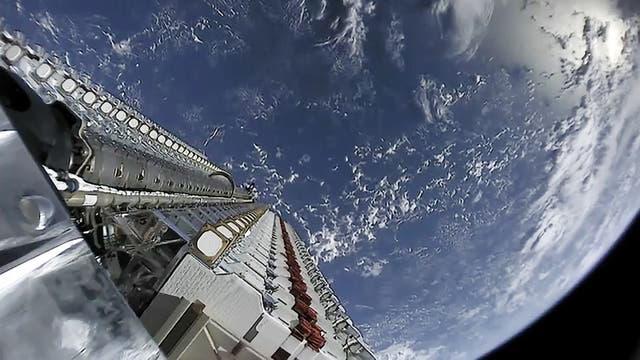 Freisetzung von 60 Starlink-Satelliten am 23. Mai 2019