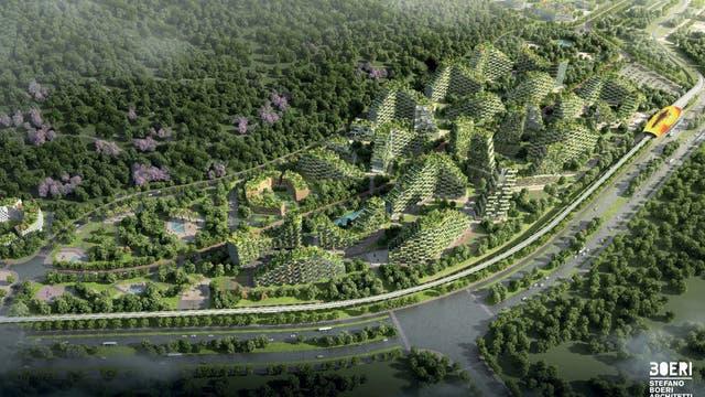 Liuzhou Forest City soll Chinas massive Probleme bei der Verstädterung angehen