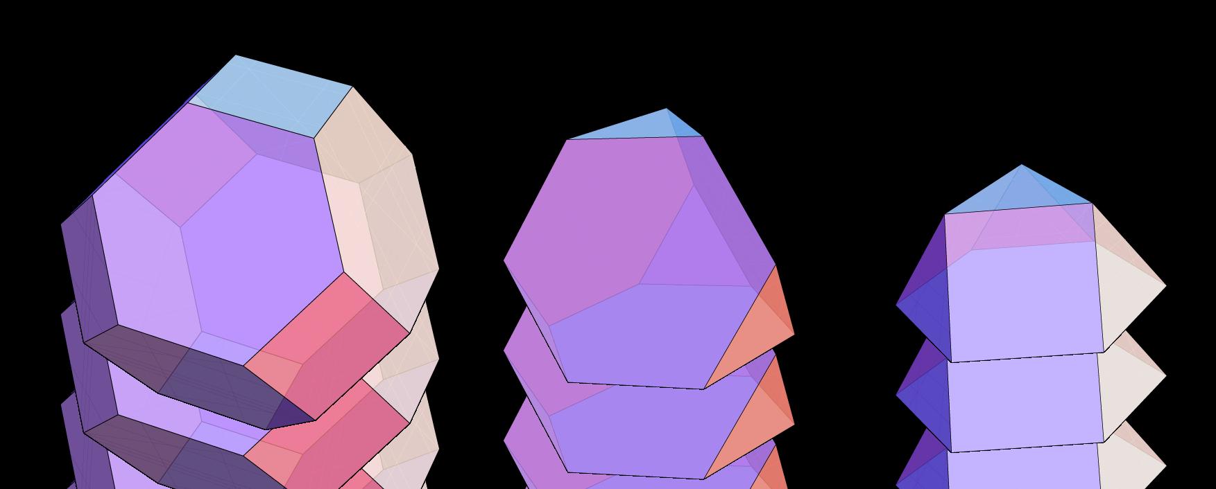 Oktaederstumpf, Tetraederstumpf, 3-Kuppel