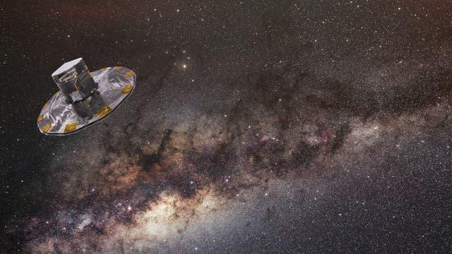 Gaia vor Milchstraßenpanorama