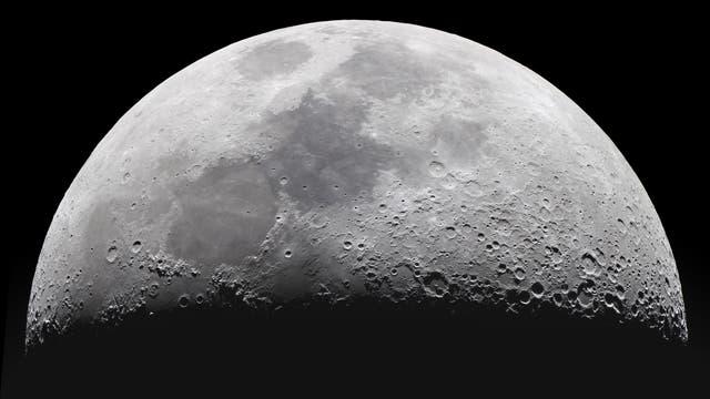 Mondkrater, Gebirge und Maregebiete