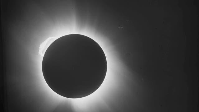 Historische Sonnenfinsternis
