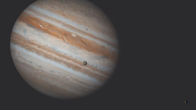 Jupitermond Ganymed verfinstert Io
