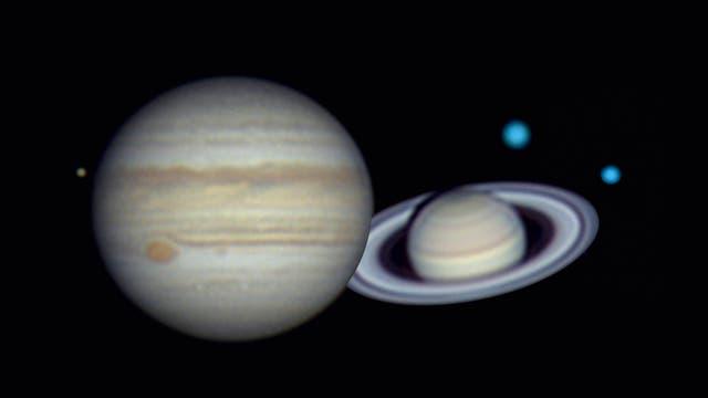 Jupiter, Saturn, Uranus und Neptun: Ziele für jedes Kaliber