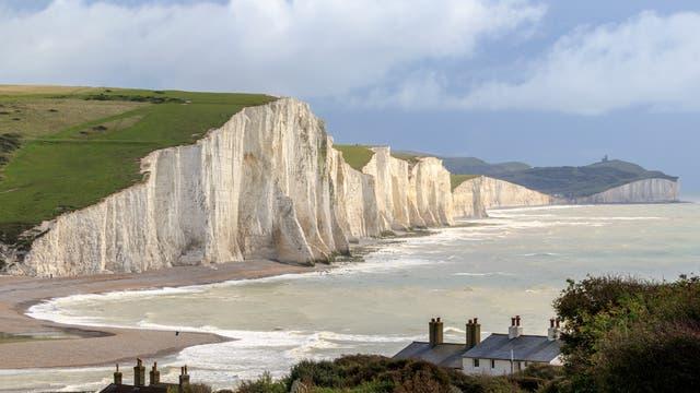 Kreidefelsen von Sussex an der britischen Küste