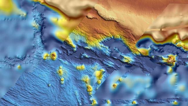 Die Karte zeigt, wie detailreich das erfasste Suchgebiet verglichen mit der Umgebung abgetastet wurde