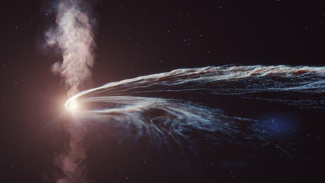 Schwarzes Loch zerreisst Stern