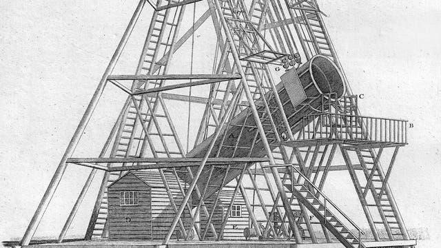 Das von William Herschel errichtete Teleskop