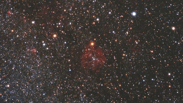 Der Granatstern My Cephei im Sternbild Kepheus