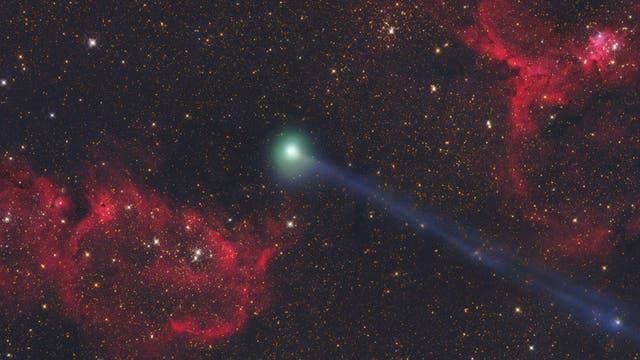 Komet C/2014E2 Jacques zwischen Herz und Seele
