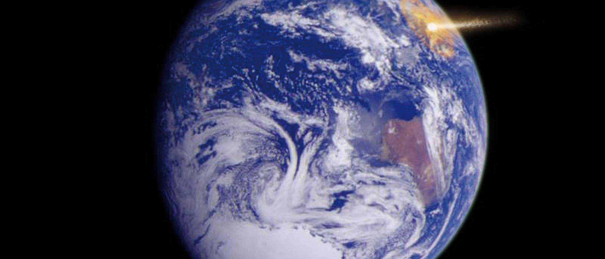Erdbild von Jupitersonde