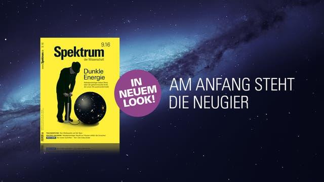 Das neue Heft samt Slogan vor einem Sternenhimmel