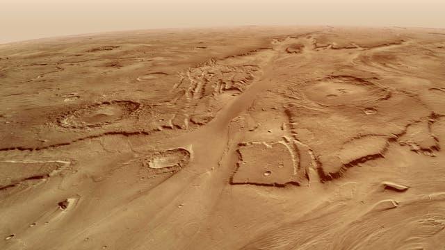 Kasei Valles auf der Marsoberfläche