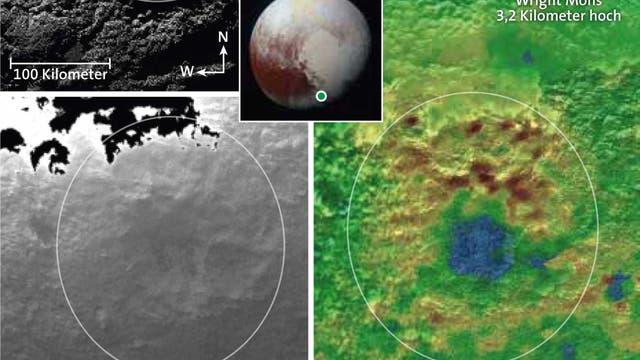 Eisvulkane auf Pluto