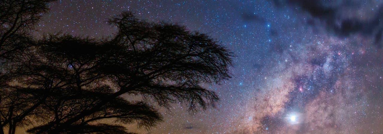 Milchstraße und Planet Venus