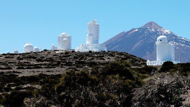 Das Forschungsgelände des Observatorio del Teide