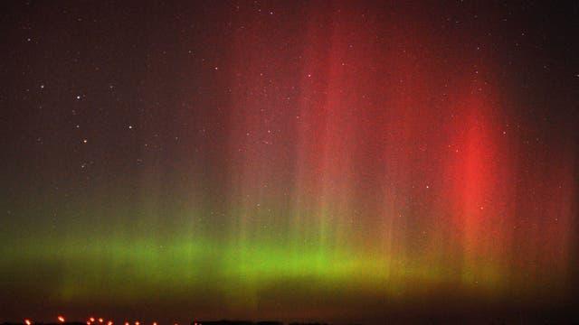 Polarlicht nördlich von Berlin