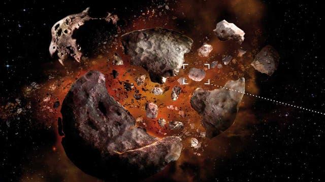 Sonnenwind verfärbt junge Asteroiden