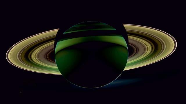 Saturn in Grün