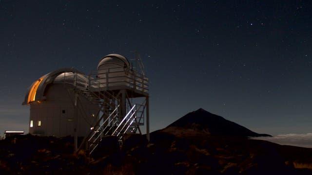 Pico del teide im Mondlicht