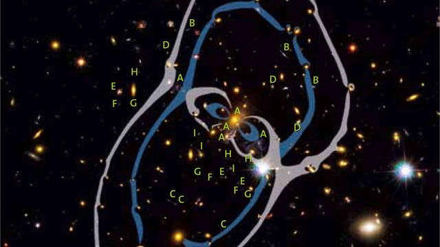 Galaxienhaufen MACS J1149+2223 / Aufnahme Weltraumteleskop Hubble