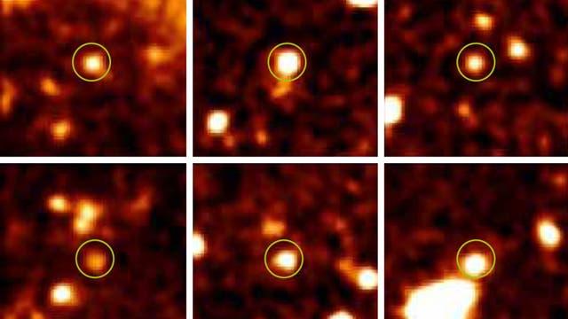 Dunkle Galaxien, durch UV-Strahlung sichtbar gemacht