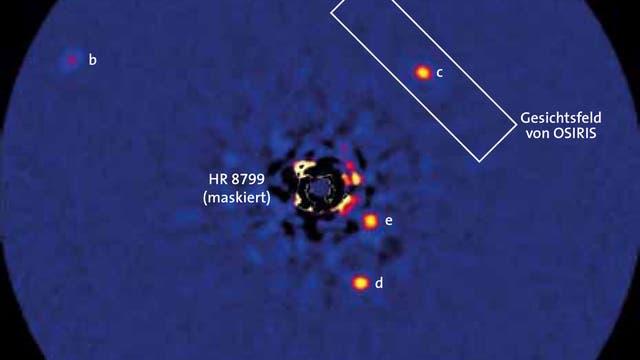 Die vier Planeten von HR 8799