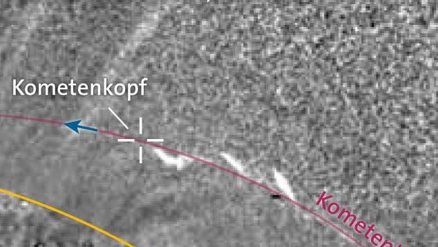 Schweifentwicklung von Komet Lovejoy