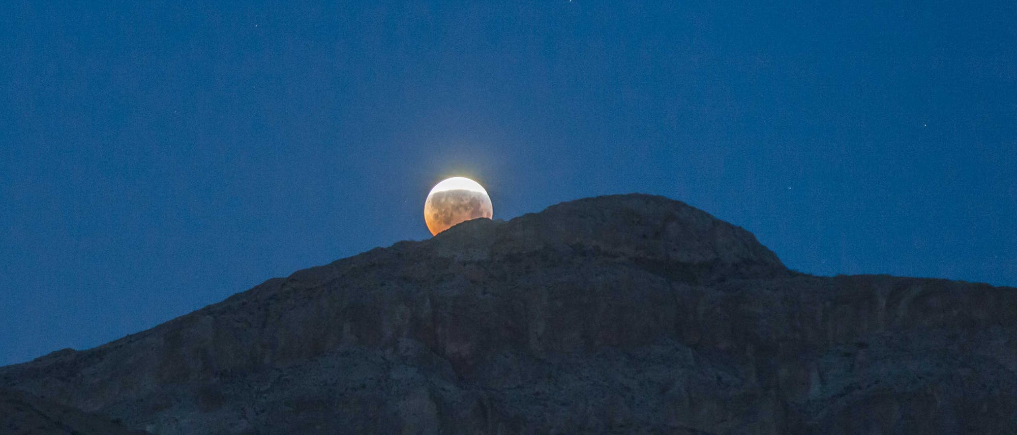 Mondfinsternis im Valley of Fire
