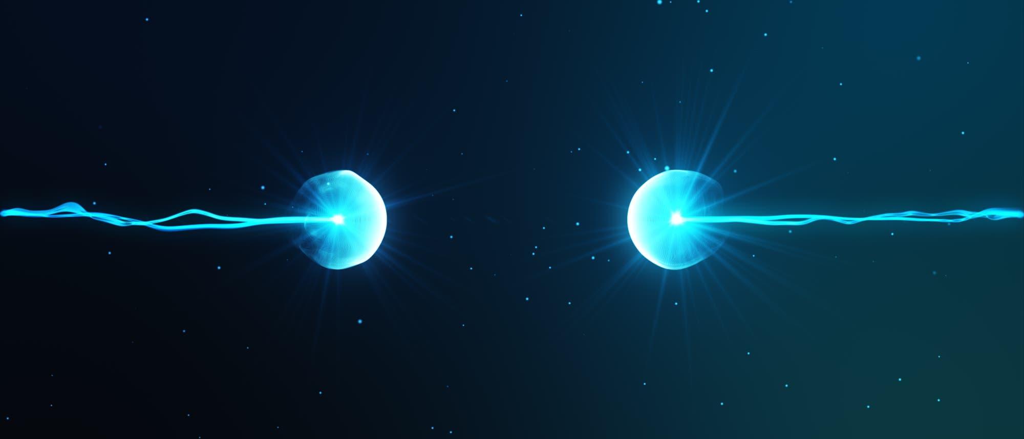 Teilchen auf Kollisionskurs