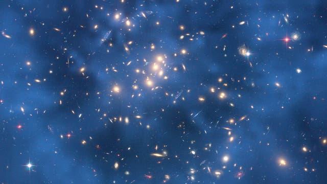 Dunkle Materie (blau)