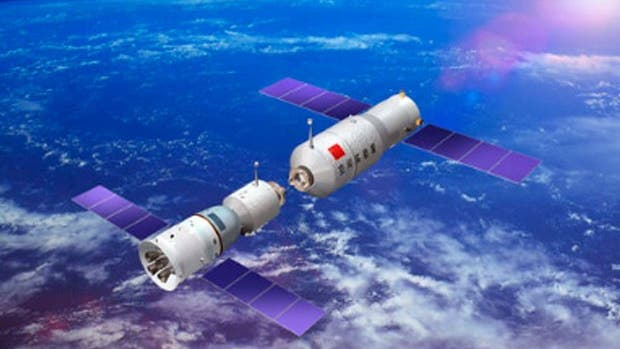 Chinas Raumstation Tiangong-1