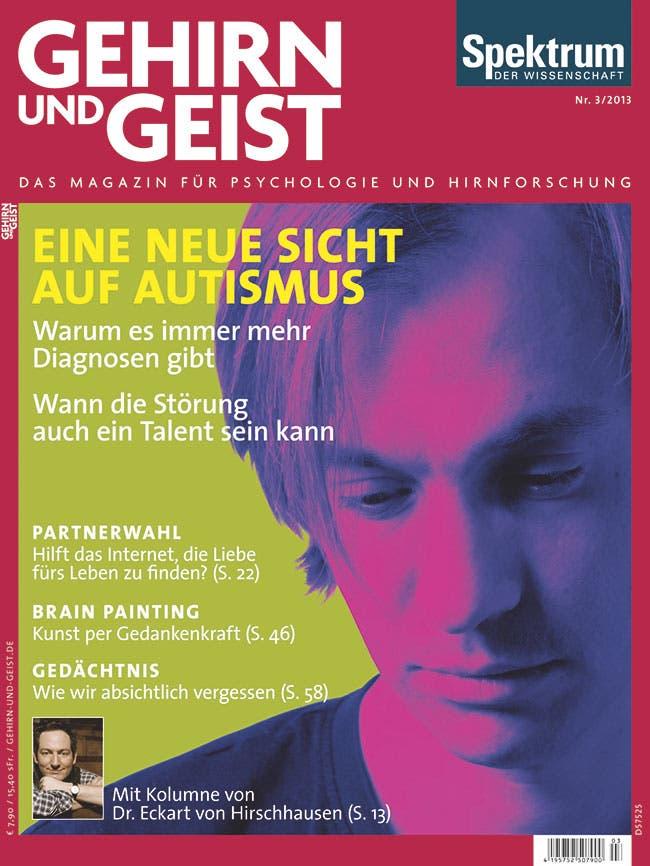 """Aus Gehirn und Geist 3/2013 <br><a href=""""https://www.spektrum.de/artikel/1065440"""" target=""""_blank"""">Kostenloses Probeheft</a>"""
