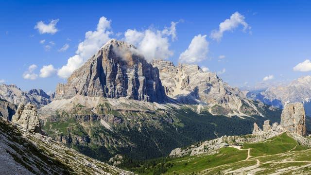 Tofana di Rozes Südwand in den Dolomiten