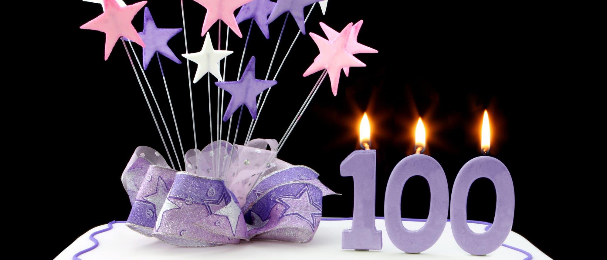 Torte zum 100sten Geburtstag