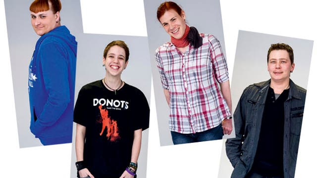 Thamara, Lennard, Katrin und Julian