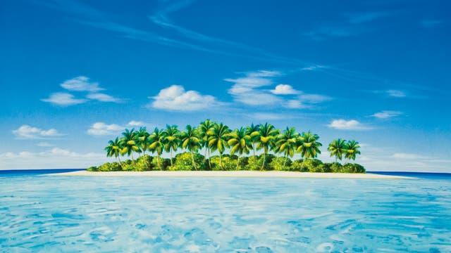 eine Insel in der Südsee