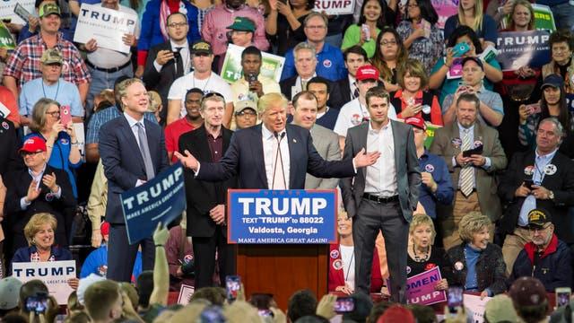 Donald Trump auf einer Wahlveranstaltung in Georgia