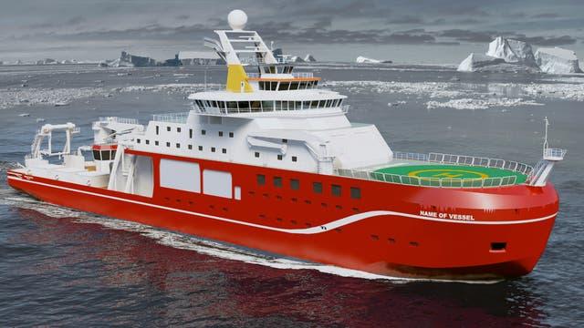 Neues britisches Forschungsschiff
