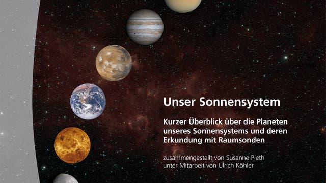 """Titelbild der Broschüre """"Unser Sonnensystem"""""""