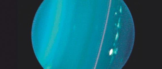 Uranus im Blick des Keck-Teleskops (Infrarotaufnahme)
